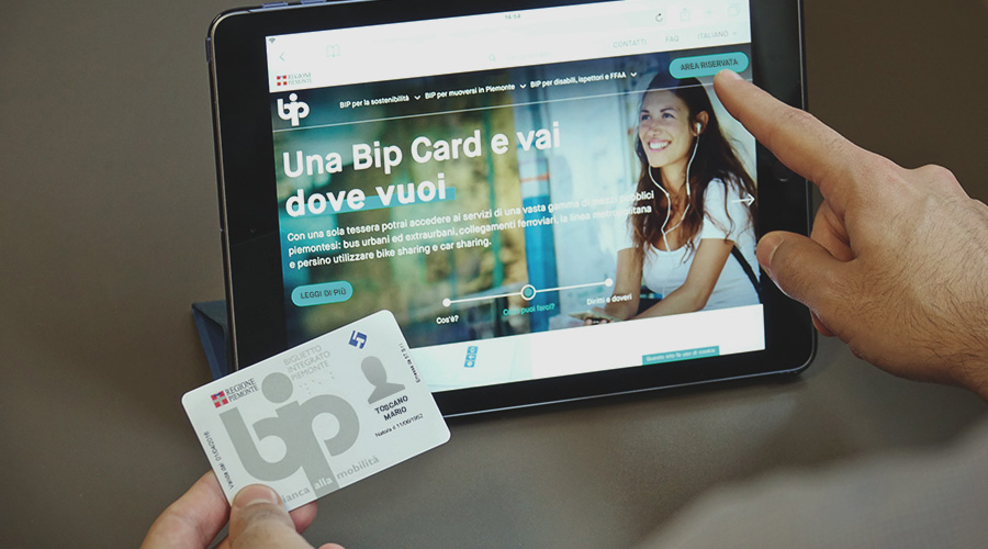 Bip Card Biglietto Integrato Piemonte S A F Duemila